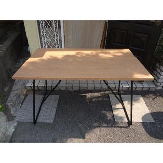 ムジルシリョウヒン(MUJI (無印良品))の無印良品 折りたたみテーブル オーク材(その他)