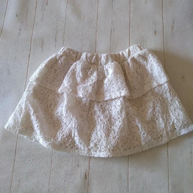 GU(ジーユー)の【GU】レースキュロット2枚set キッズ/ベビー/マタニティのキッズ服 女の子用(90cm~)(スカート)の商品写真