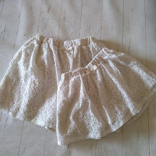 ジーユー(GU)の【GU】レースキュロット2枚set(スカート)