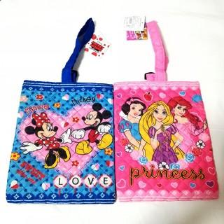 ディズニー(Disney)の271.2個ディズニー プリンセス ミッキー ミニー キルト シューズバッグ(シューズバッグ)