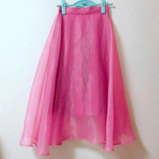 ハニーサロン(Honey Salon)の♡ハニーサロン チュールスカート ピンク♡(ロングスカート)