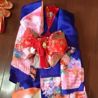 七五三 女の子用着物セット (和服/着物)