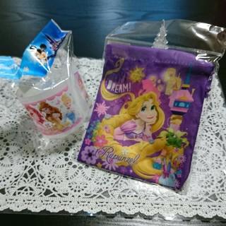 ディズニー(Disney)のディズニー プリンセス 歯ブラシコップセット&ミニ巾着(歯ブラシ/歯みがき用品)