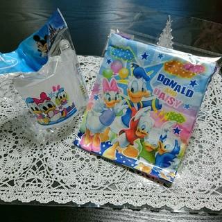 ディズニー ドナルド&デイジー 歯ブラシコップセット&ミニ巾着