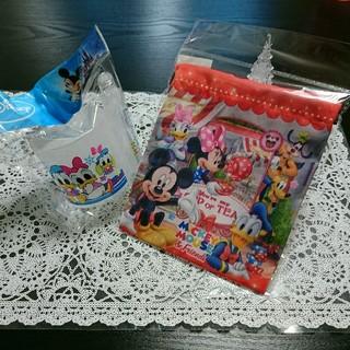 ディズニー(Disney)のディズニー ドナルド&デイジー 歯ブラシコップセット&ミニ巾着(歯ブラシ/歯みがき用品)