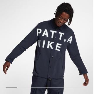 ナイキ(NIKE)の新品 nike patta coach jacket navy L(ナイロンジャケット)