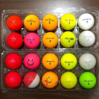 キャスコ(Kasco)のKIRA ロストボール 20球 レディース系 ピンク有り(その他)