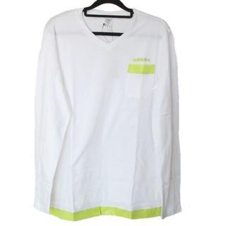 アディダス(adidas)の新品M★アディダスネオ白マテリアルミックスロンT(Tシャツ/カットソー(七分/長袖))