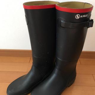 エーグル(AIGLE)のAIGLEエーグル☆長靴レインブーツ36レディースアウトドア雨グッズママ(レインブーツ/長靴)