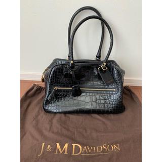 ジェイアンドエムデヴィッドソン(J&M DAVIDSON)のクロコ型押しレザー バッグ(ショルダーバッグ)