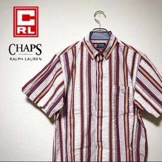 チャップス(CHAPS)の【レア】 CHAPS チャップス 半袖 シャツ ストライプ メンズ M 90s(シャツ)