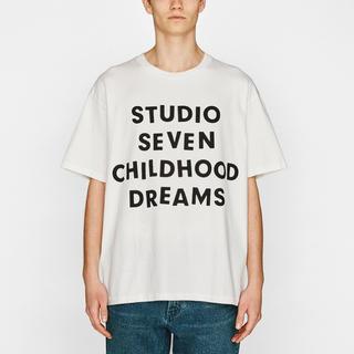 ジーユー(GU)のSTUDIO SEVEN (GU) ヘビーウェイトビッグT ホワイト XL(Tシャツ/カットソー(半袖/袖なし))
