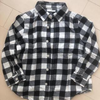 ジーユー(GU)のGU  チェックシャツ 110cm(ブラウス)
