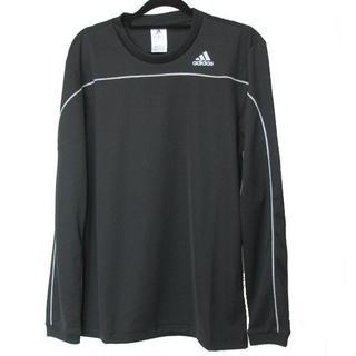 アディダス(adidas)の新品M★アディダス黒ベーシックロンT ブラック(Tシャツ/カットソー(七分/長袖))