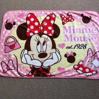 ディズニー(Disney)のミニーマウス フランネル  ブランケット(おくるみ/ブランケット)
