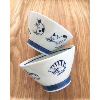 ハサミ(HASAMI)のねこ柄 茶碗セット 波佐見焼 白山陶器 クラスカ イデー 九谷焼 無印良品(食器)