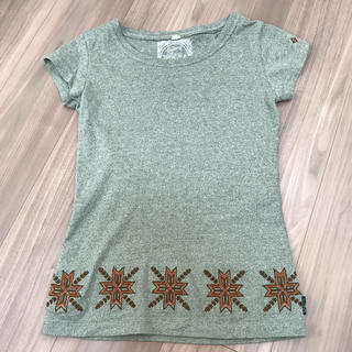 ゴーヘンプ(GO HEMP)のGOHEMP Tシャツ カーキ レディースXS(Tシャツ(半袖/袖なし))