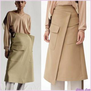 0170ed4cfe8f セリーヌ(celine)のセリーヌ CELINE ベージュ スカート 巻きスカート ワンピース フィービー(ひざ丈