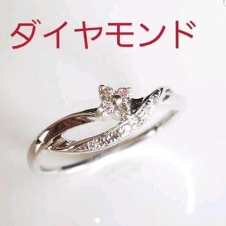 クミキョク(kumikyoku(組曲))の【新品未使用】組曲ダイヤモンドリング☆K10ホワイトゴールド☆指輪(リング(指輪))