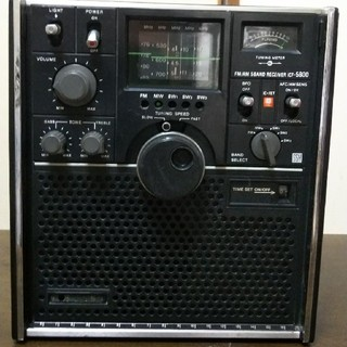 ソニー(SONY)のSONY icf-5800 5バンドラジオMW、FM、SW1、2、3ジャンク(ラジオ)