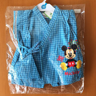 ディズニー(Disney)のDisney ミッキー甚平 80(甚平/浴衣)
