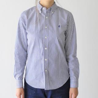 ジムフレックス(GYMPHLEX)のGymphlex(ジムフレックス) コットンストライプボタンダウンシャツ(シャツ/ブラウス(長袖/七分))