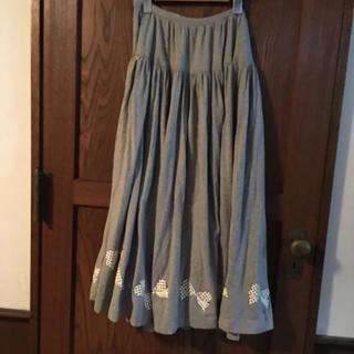 インゲボルグ(INGEBORG)の可愛いリボンプリントのインゲボルグのスカート(ロングスカート)