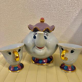 Disney - 美女と野獣 ポット夫人 チップくんティーセット ディズニー