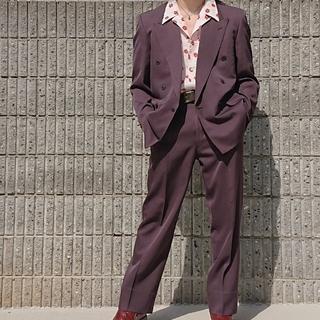 ジョンローレンスサリバン(JOHN LAWRENCE SULLIVAN)のlittlebig風パープルセットアップ  ダブルスーツ(セットアップ)