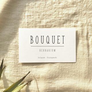 【名入れ】ORDER CARD  #BOUQUET(カード/レター/ラッピング)
