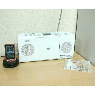 トウシバ(東芝)の東芝❤薄型CD FMAMラジオ 白 Bluetooth対応 TY-CW26W(ラジオ)