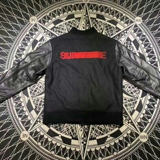 シュプリーム(Supreme)のSupreme 18FW Motion Logo Varsity Jacket(レザージャケット)