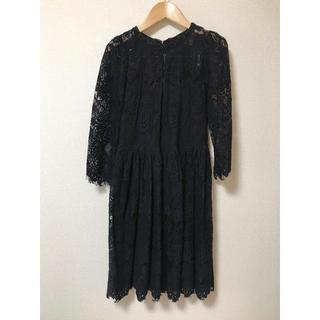 キッカザダイアリーオブ(KIKKA THE DIARY OF)のブラックレースドレス(ミディアムドレス)