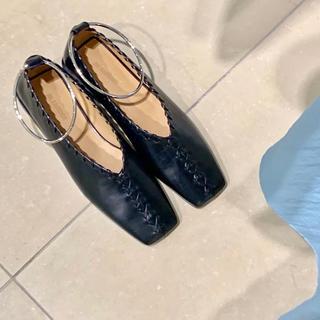 ジルサンダー(Jil Sander)のJIL Sander ジルサンダー バレエシューズ ブラック(ローファー/革靴)
