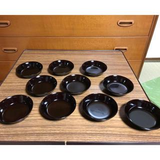 高級漆器 趣味の小皿 朝光作 10個セット 老舗 山三(漆芸)