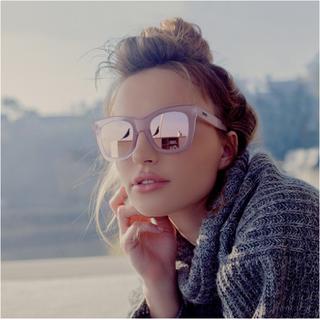 クエイアイウェアオーストラリア(Quay Eyeware Australia)の訳あり 大人気 サングラス AFTER HOUR ピンク ミラー オーストラリア(サングラス/メガネ)