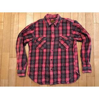 ザリアルマッコイズ(THE REAL McCOY'S)のリアルマッコイズ ネルシャツ 赤黒チェック サイズ15(シャツ)