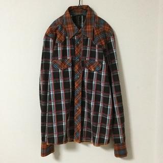 ヌーディジーンズ(Nudie Jeans)のNudie Jeans 長袖シャツ チェック オレンジ ブラック レッド(シャツ)