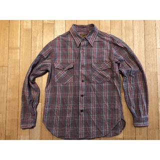 ザリアルマッコイズ(THE REAL McCOY'S)のリアルマッコイズ ネルシャツ グレーチェック サイズ16(シャツ)