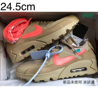 ナイキ(NIKE)のNIKE AIR MAX 90 OFF-WHITE THE 10 24.5cm(スニーカー)