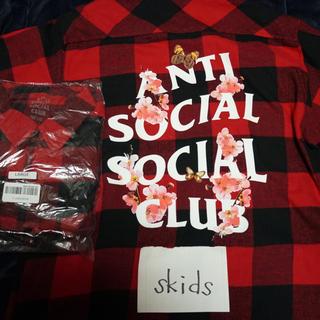 アンチ(ANTI)のassc anti social social club ネルシャツ L(シャツ)