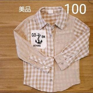 スキップランド(Skip Land)の美品 ベージュシャツ 100㎝(Tシャツ/カットソー)