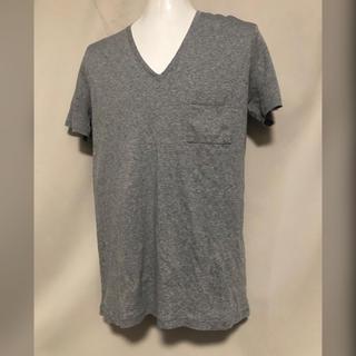 ガラアーベント(GalaabenD)のGalaabenD ガラアーベント 胸ポケットTシャツ グレー Vネック 1 S(Tシャツ/カットソー(半袖/袖なし))