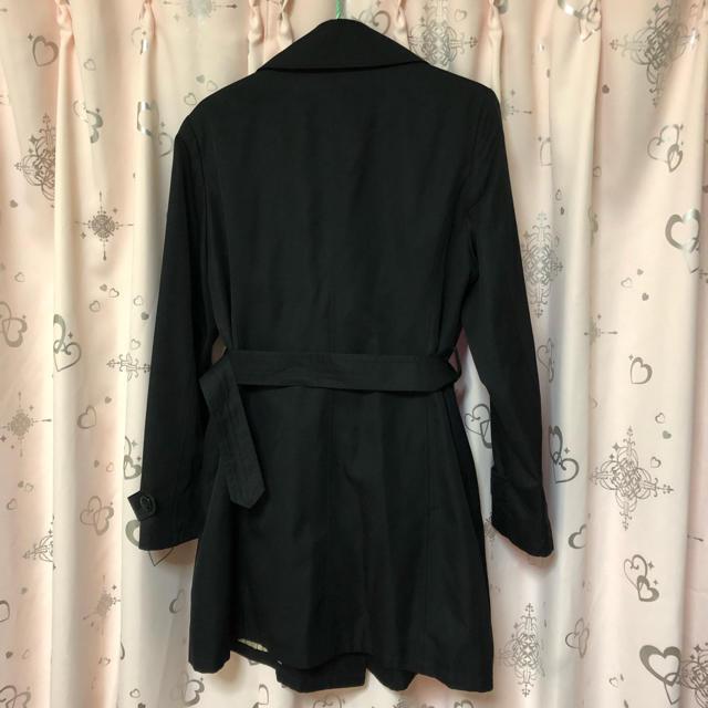 しまむら(シマムラ)の春スプリングコート♡13号黒 レディースのジャケット/アウター(トレンチコート)の商品写真