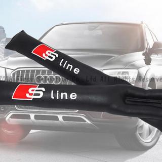 アウディ(AUDI)のアウディ audi シートサイドクッション Sline 刺繍 新品 未使用(車内アクセサリ)
