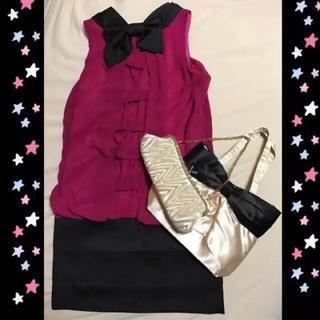 アールエフ(R・F)のドレス♡バッグ♡3点セット♡(ミディアムドレス)
