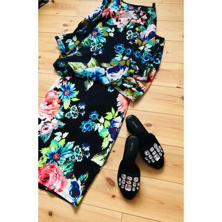 エイチアンドエム(H&M)の美品 H&M 花柄トップススカート 上下セット(セット/コーデ)