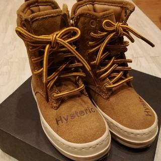 ヒステリックミニ(HYSTERIC MINI)のヒスミニ 8ホールブーツ スエード XS 14センチ(ブーツ)