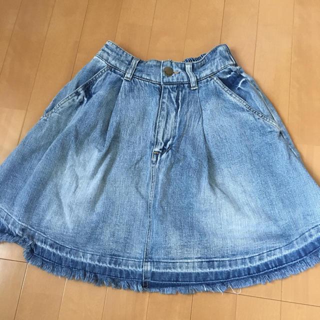 しまむら(シマムラ)の❇︎美品❇︎ デニム フリンジスカート レディースのスカート(ミニスカート)の商品写真