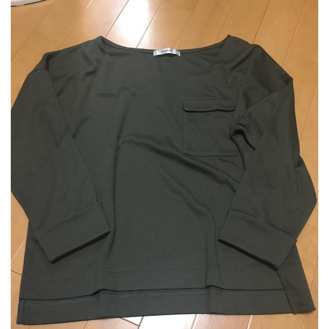 しまむら(シマムラ)の胸ポケット カットソー レディースのトップス(カットソー(長袖/七分))の商品写真